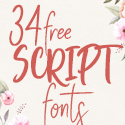 Post Thumbnail of 34 Free Script Fonts for Graphic Designers