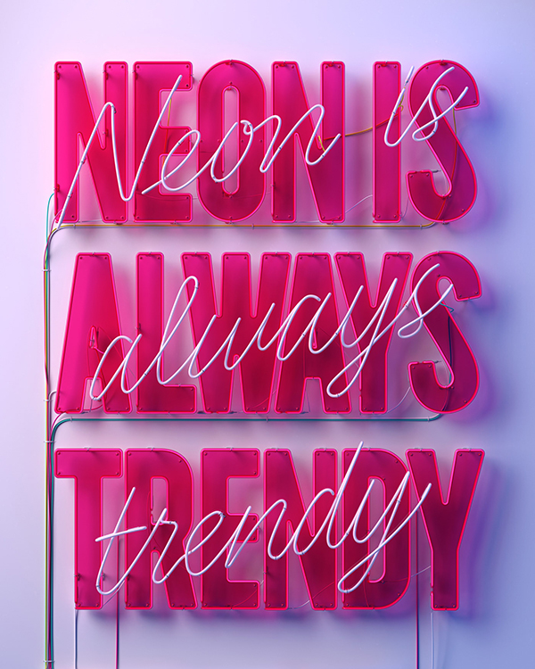 NEON IS ALWAYS TRENDY by Marc Urtasun