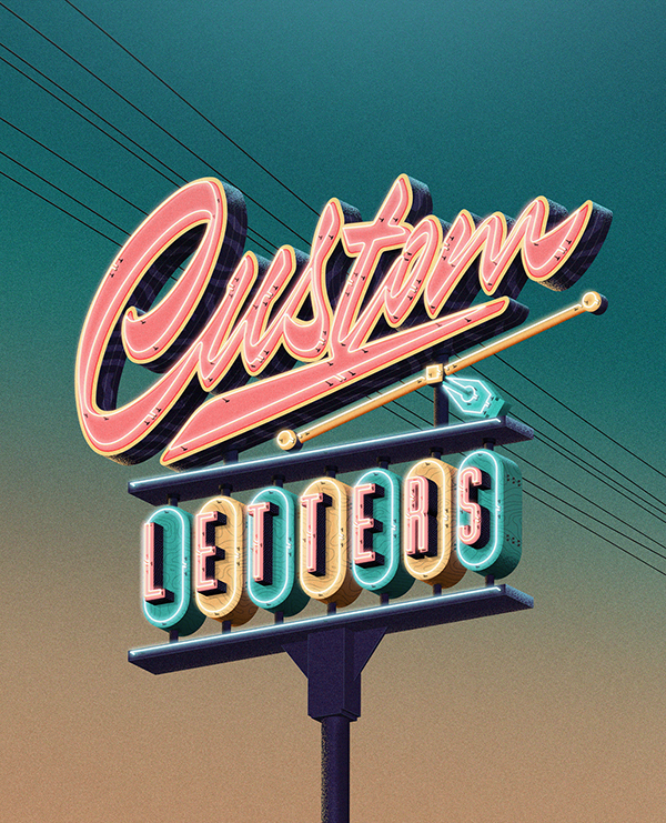 Custom Lettering Love by Jonathan Ortiz