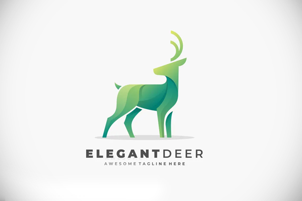 Abstract Deer Color Logo Template