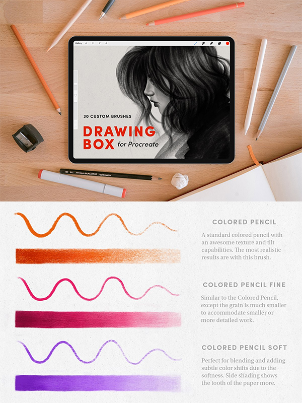 Drawing Box – Procreate Brushes
