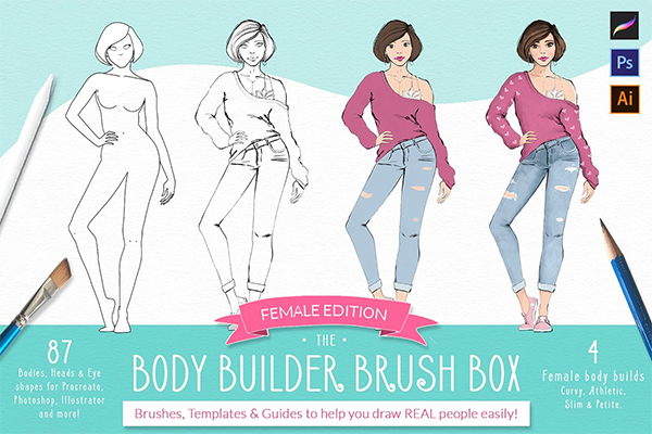 Procreate Body Builder Brush Box
