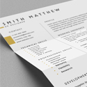 Post Thumbnail of Free 2 Pages CV Resume Template + Cover Letter (PSD)