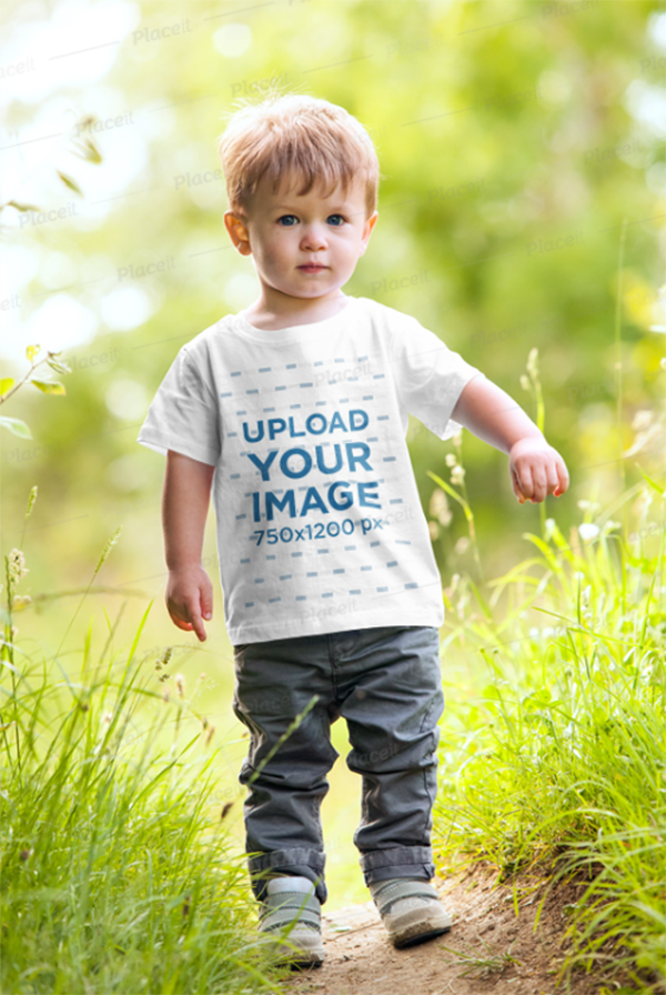 T-Shirt Mockup of A Toddler