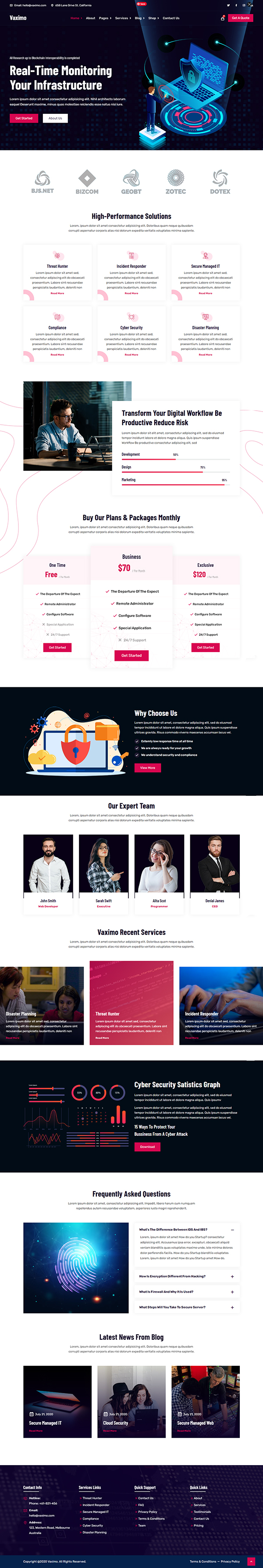 Vaximo - Cyber Security Company WordPress Theme