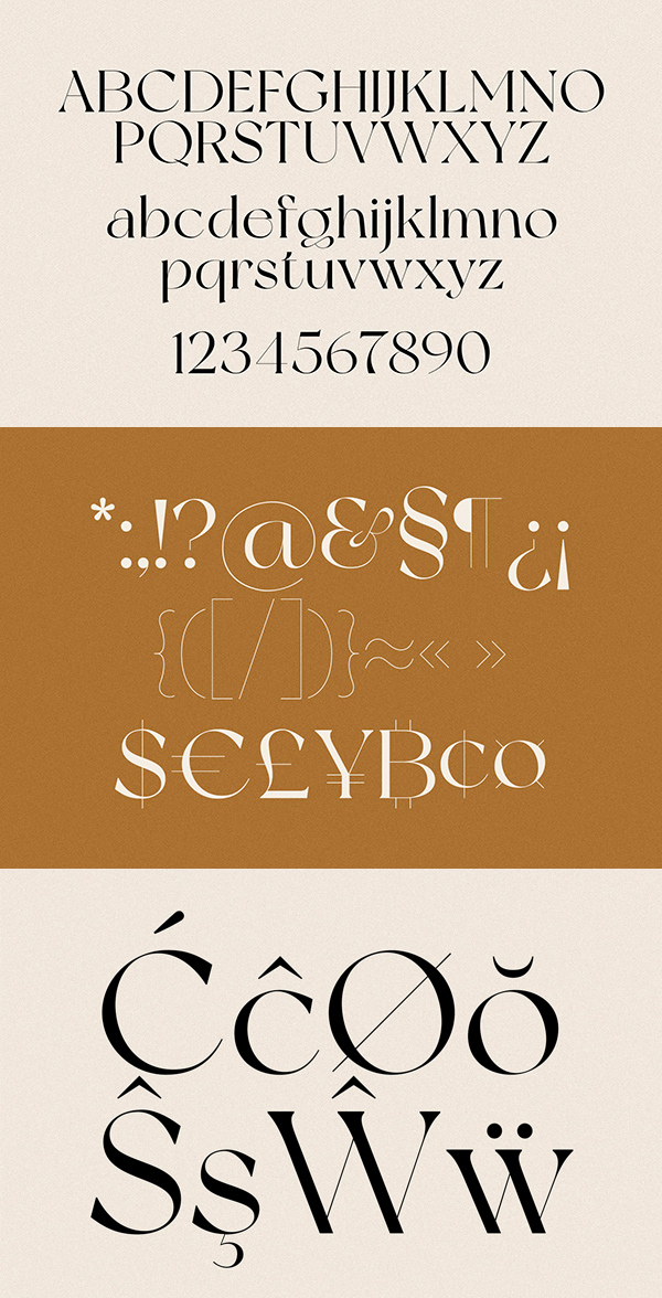 NewYork Font Letters