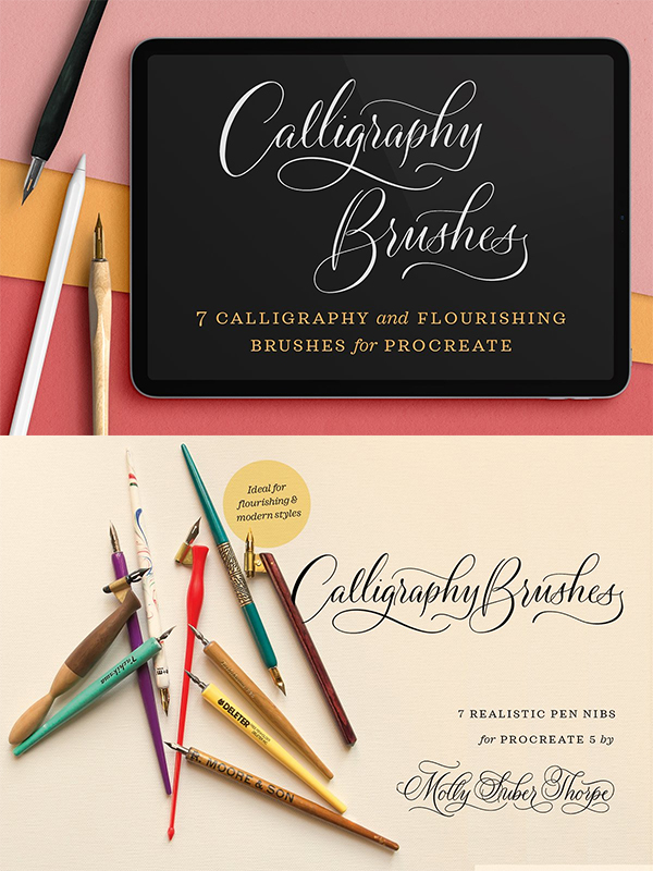 Calligraphy Nibs Procreate Brush Set