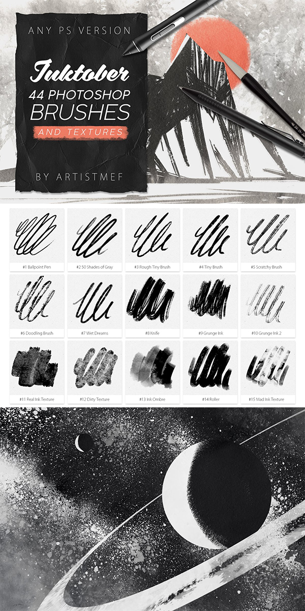 Inktober Procreate&Photoshop Brushes