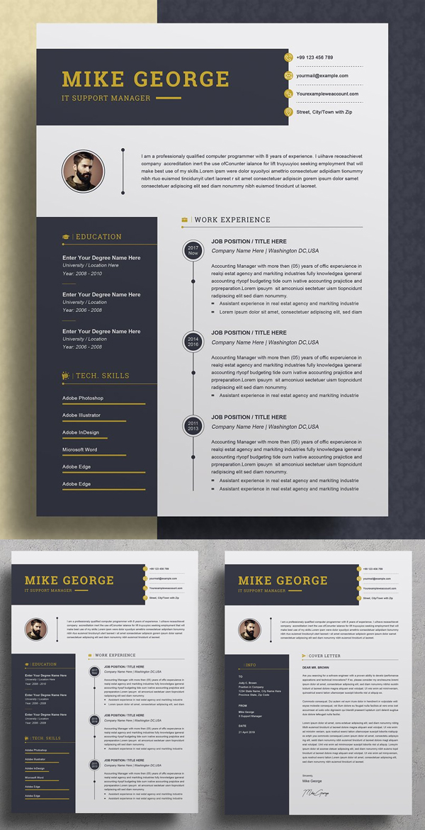 Aesome Creative Word Resume / CV