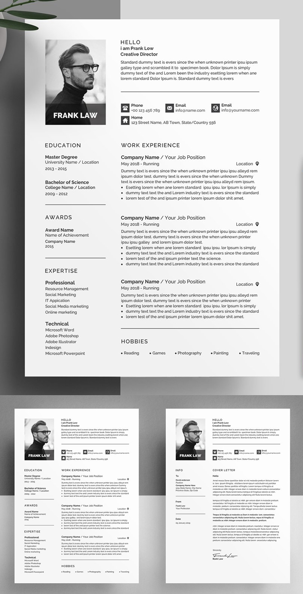 Creative Resume Template / CV