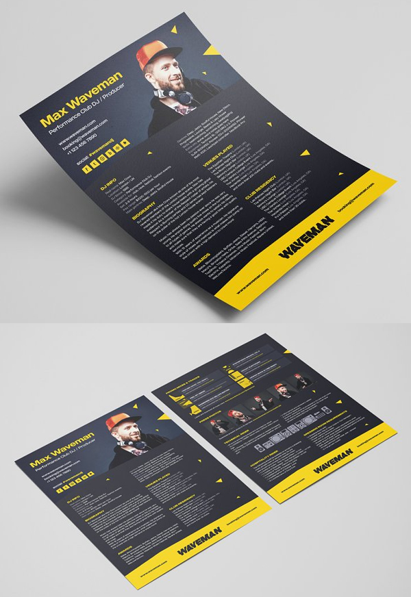 DJ Press Kit / Resume Template