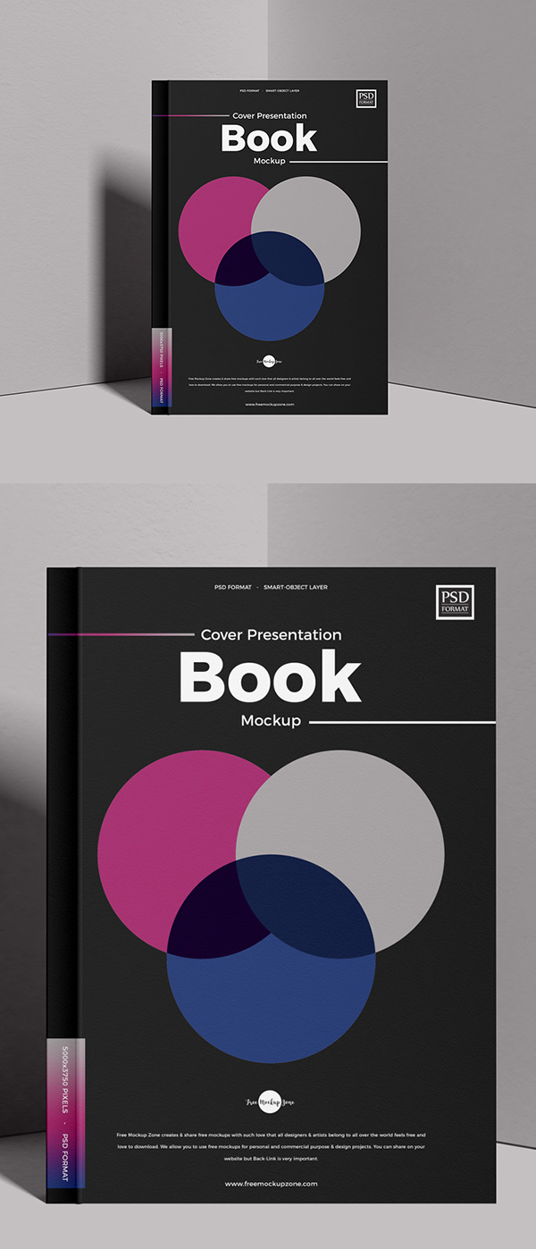 Free Cover PSD Book Mockup
