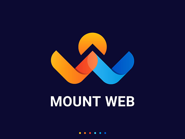 Mount Web Logo by Hasanuzzaman