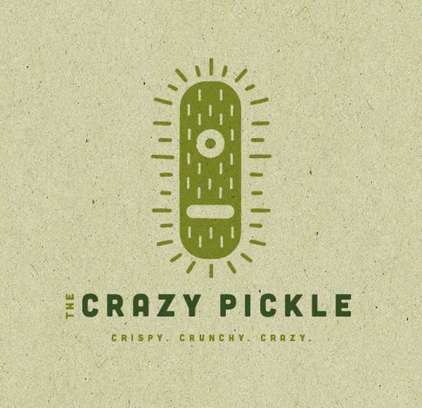 The Crazy Pickle Logo by James Strange