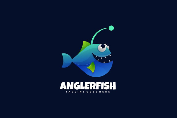 Fish Gradient Logo