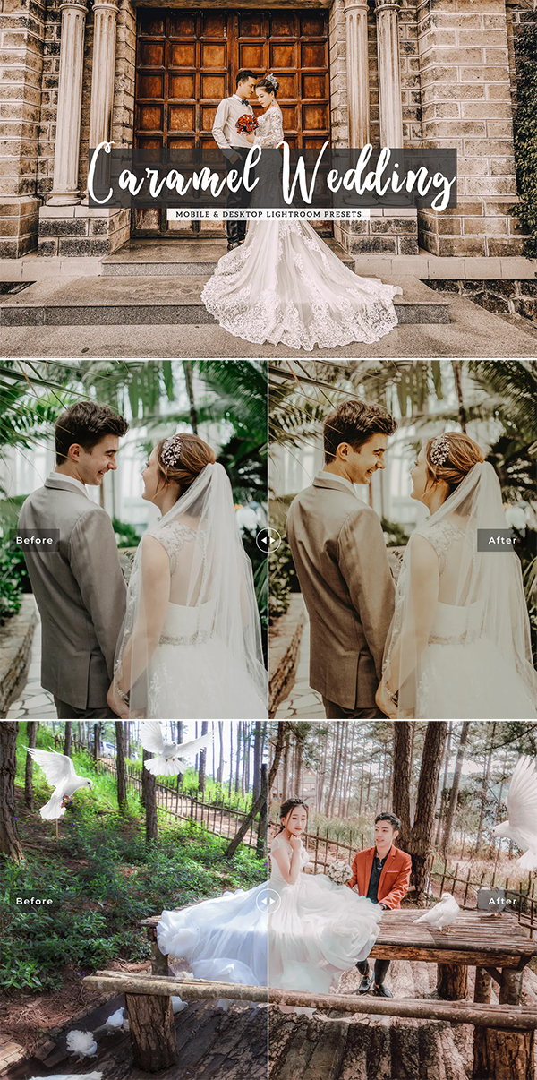 Caramel Wedding Mobile & Desktop Lightroom Presets