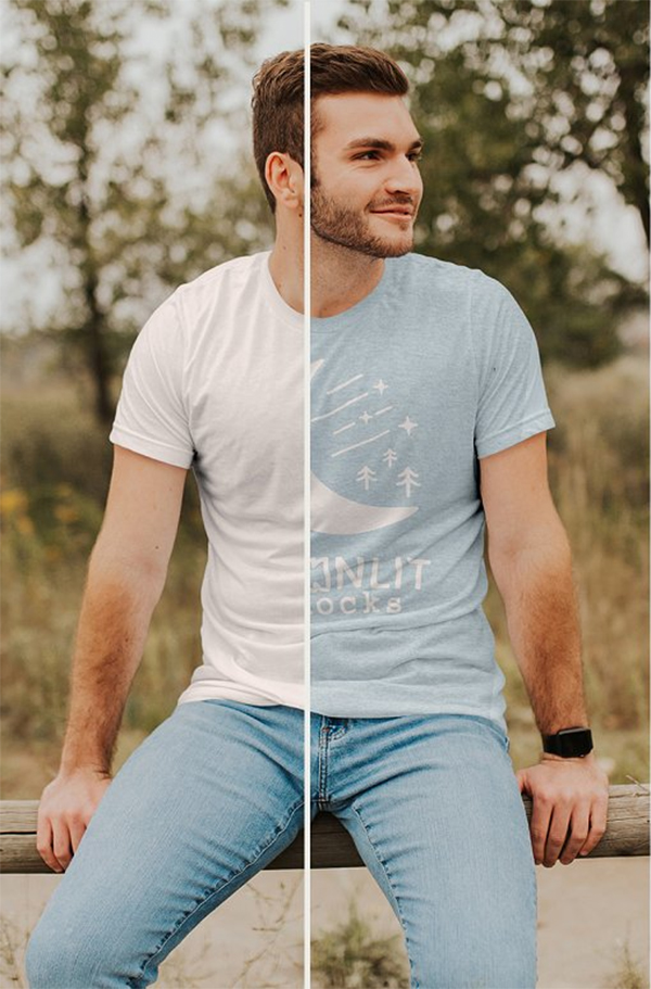 Bella Canvas 3001 Mens Tshirt Mockup