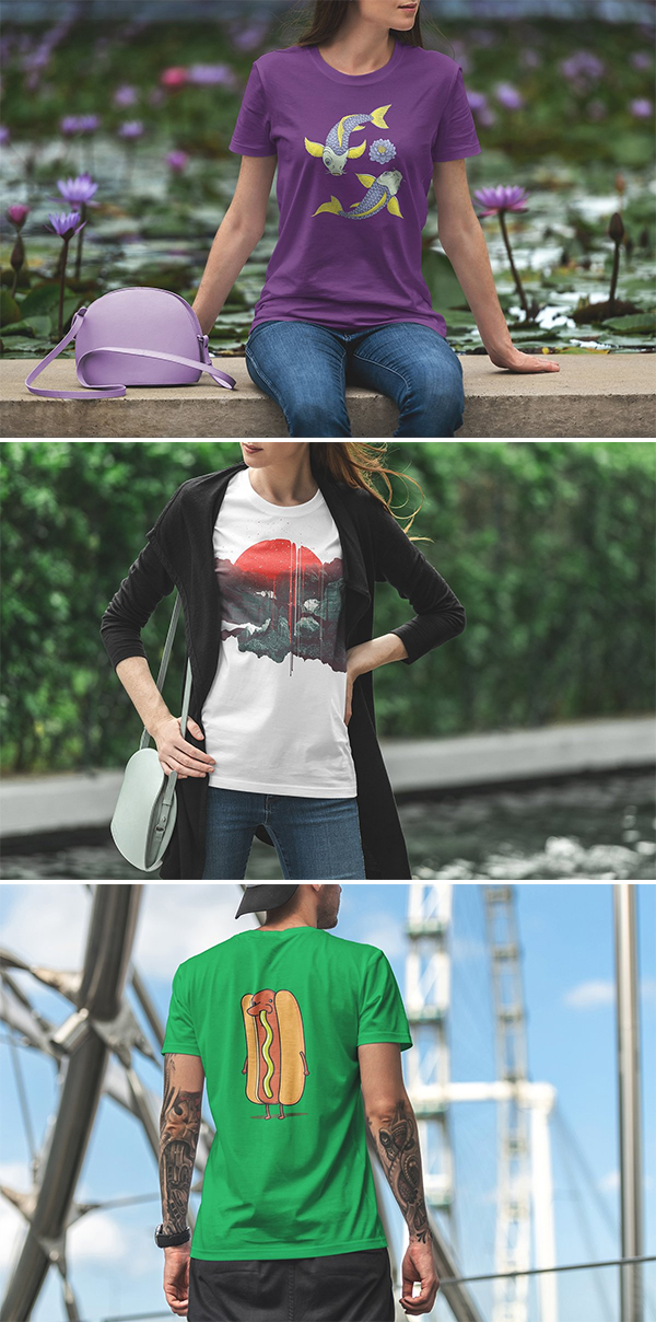 Awesome T-Shirt Mockup Urban