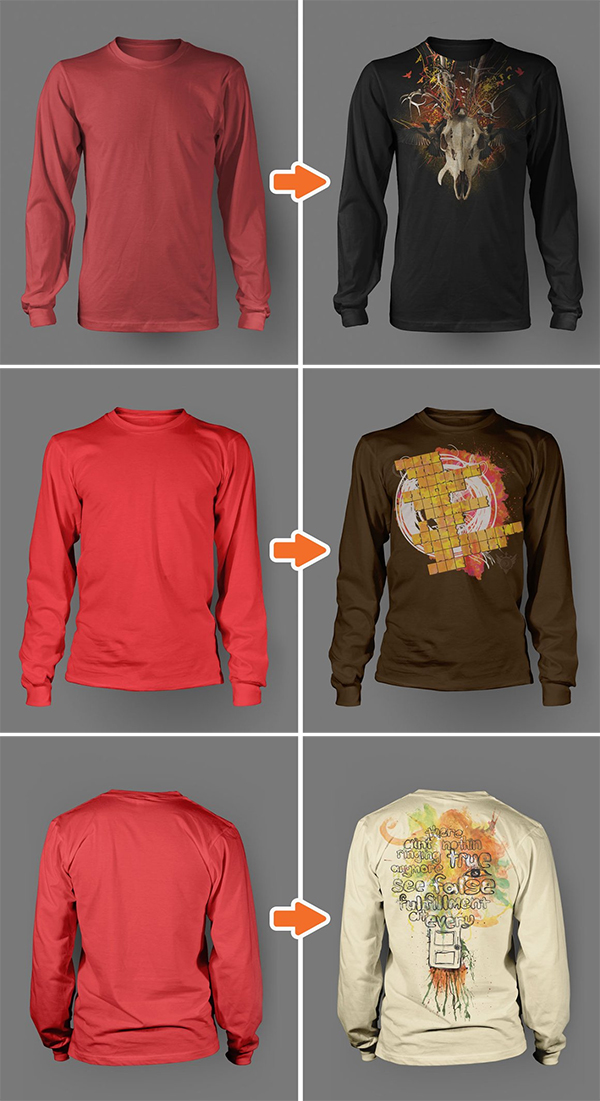 Men's Long Sleeve Shirt Mockup