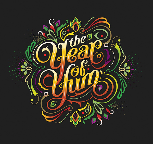 Year of Yum Typography Logo