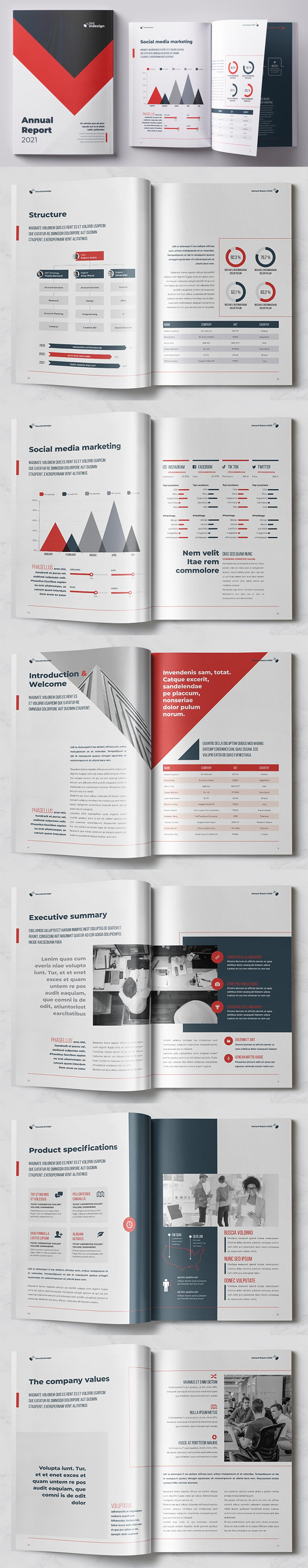 Fresh Annual Report Template