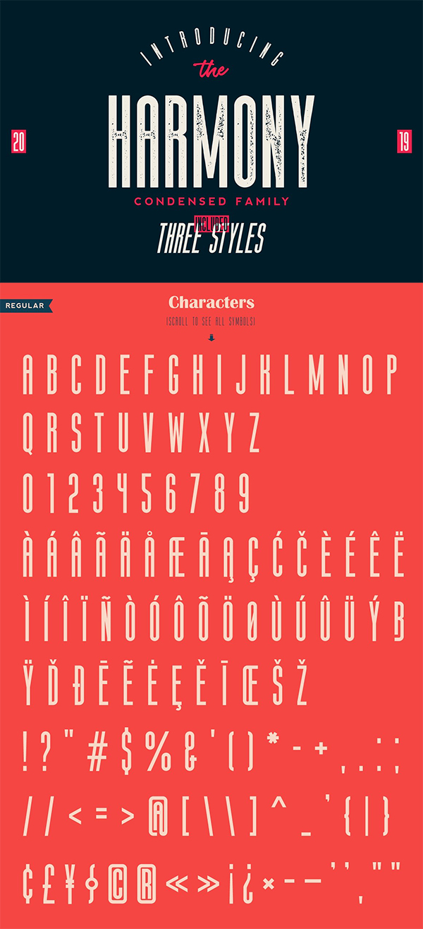 The Harmony - Condensed Font