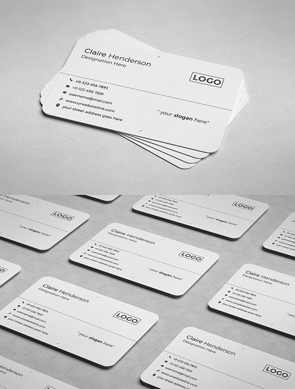 Free Professional Business card PSD Template