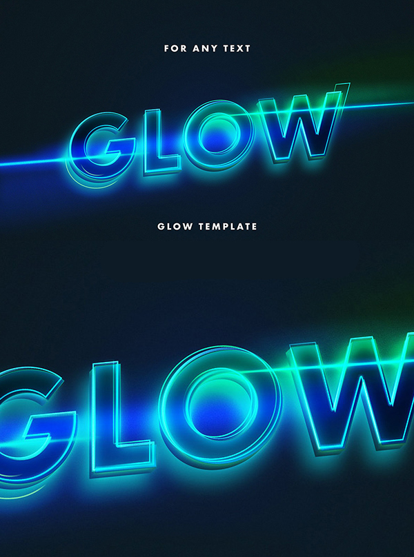 Free Neon Lettering Text Effect