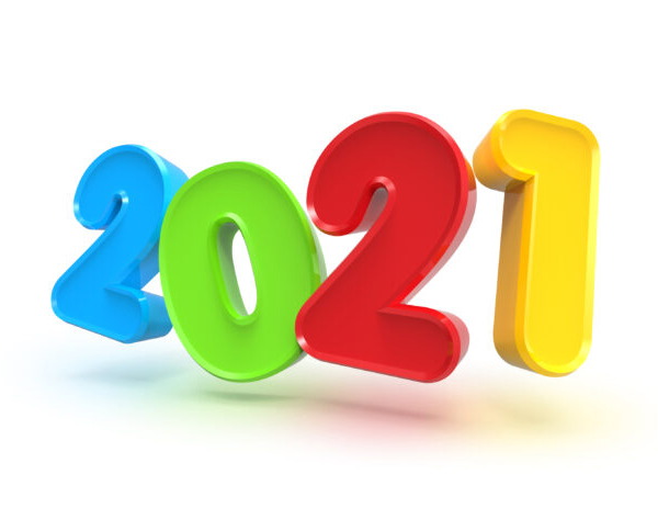 Free Colorful New Year 2021
