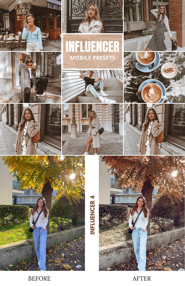 Influencer Mobile Lightroom Presets