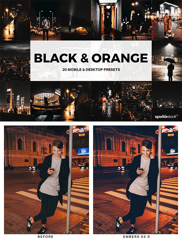 Black & Orange Lightroom Presets