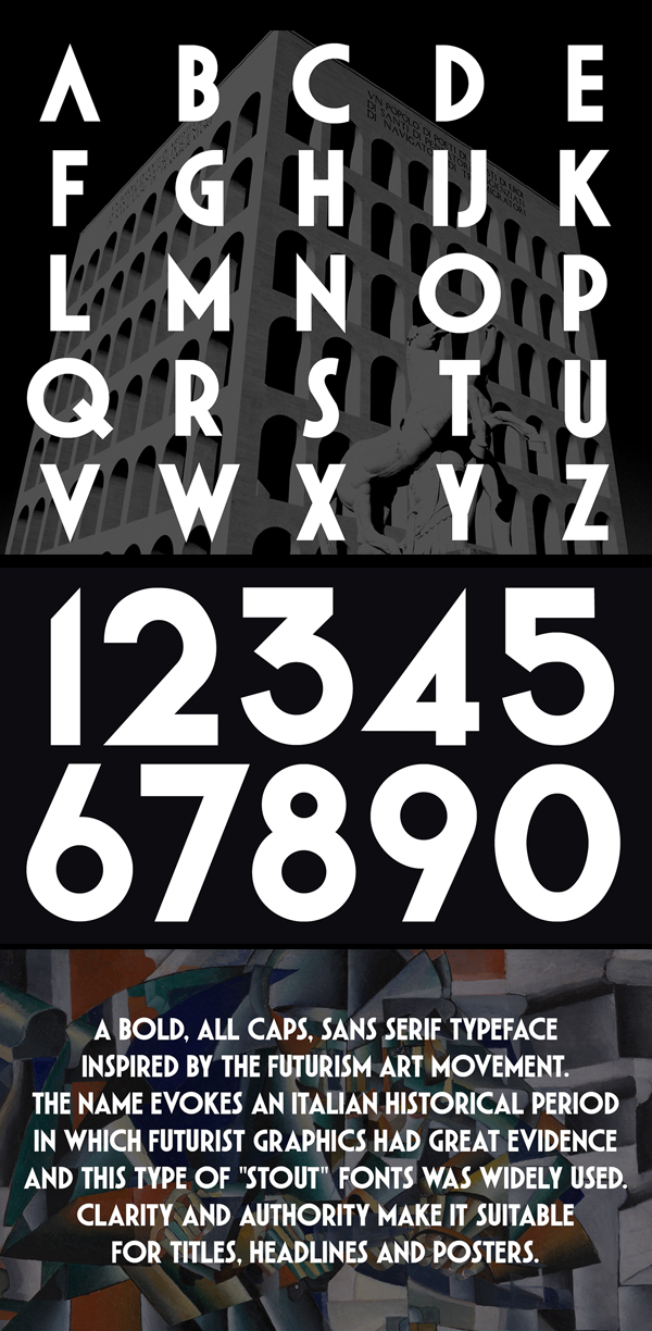 Italico Typeface Font Letters
