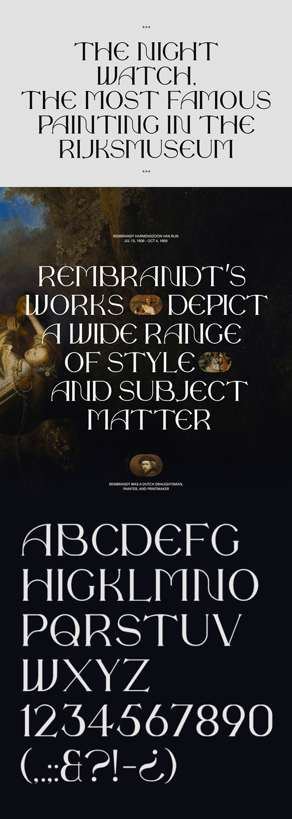 The Night Watch Font Letters