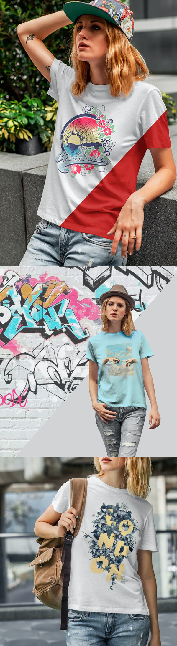 T-Shirt Mock-Up's Casual Girl