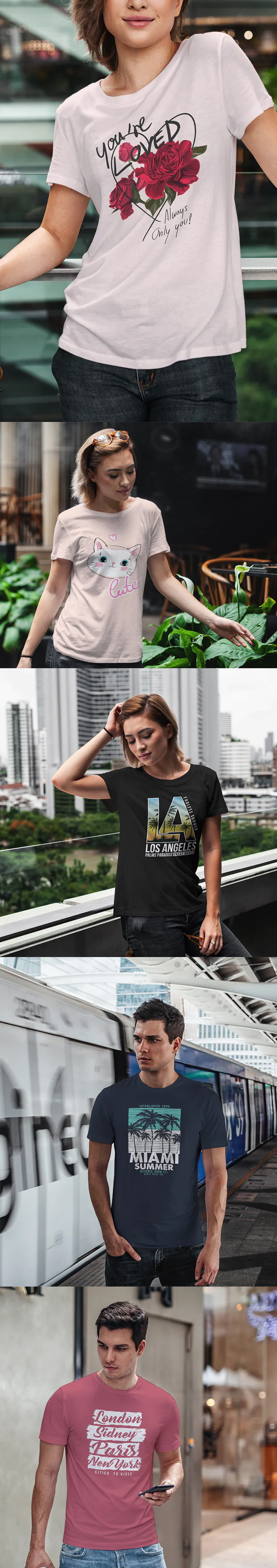 Awesome T-Shirt Mock-Up Urban Style