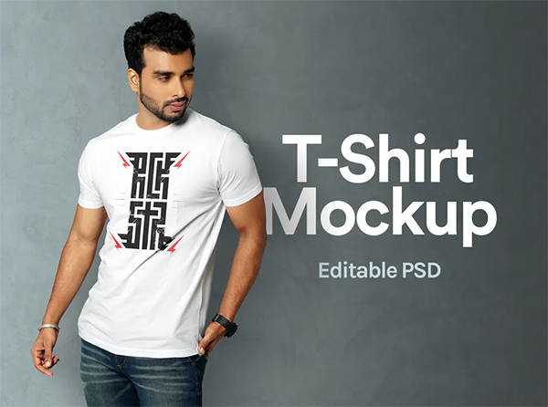 Stylish T-Shirt Mockup