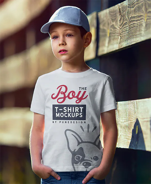 The Boy T-Shirt Mock-Up Set