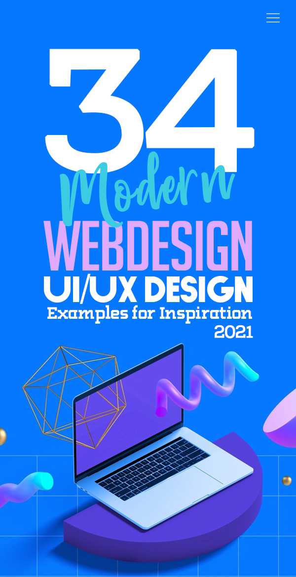 Web Design: 34 Modern Website UI / UX Design Examples