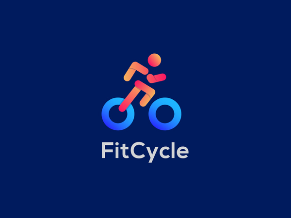 FitCycle Logo Design ( Fitness + Wheel ) by Sanaullah Ujjal